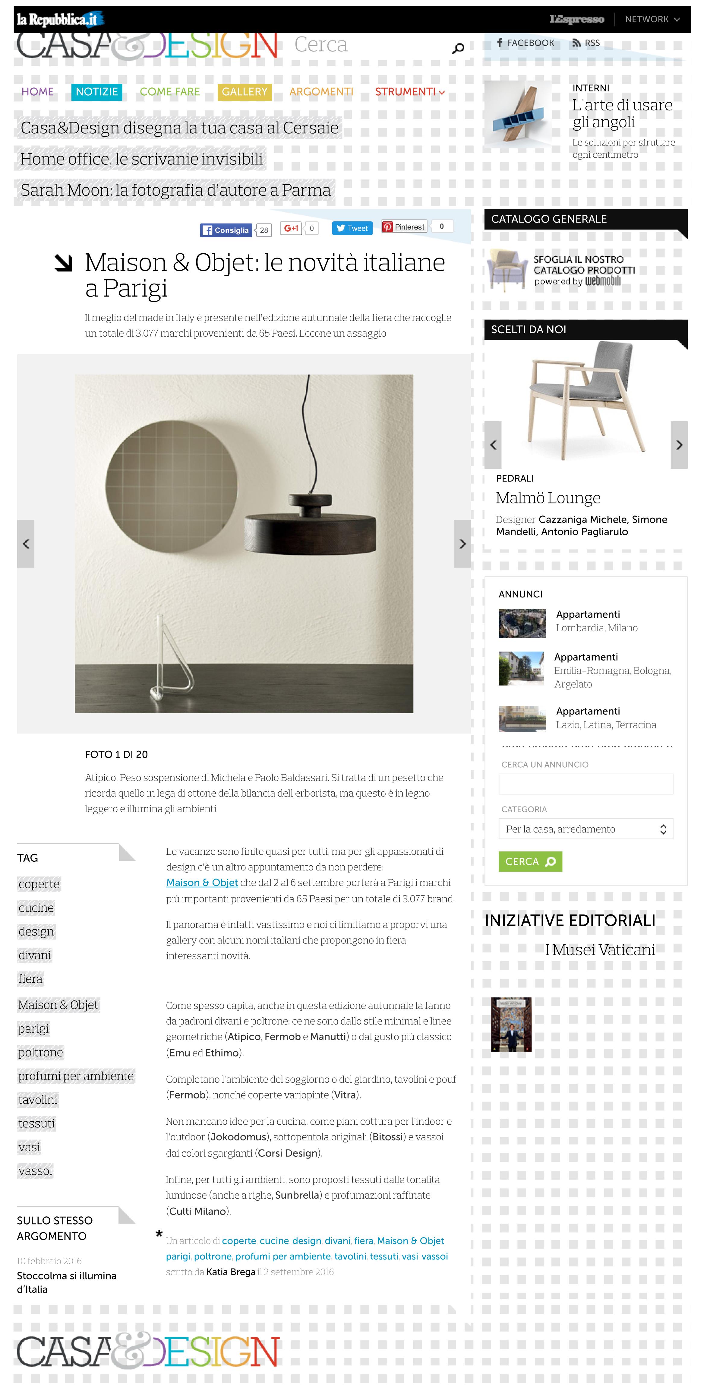 Maison & Objet_ le novità italiane a Parigi - Casa & Design-1
